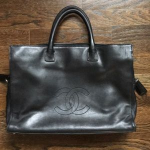 Unique Vintage Chanel Work Satchel!  Large!